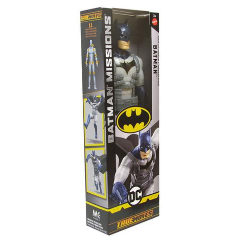 Imagem de Boneco Batman com Armadura Missions Dc 30cm Articulado Mattel