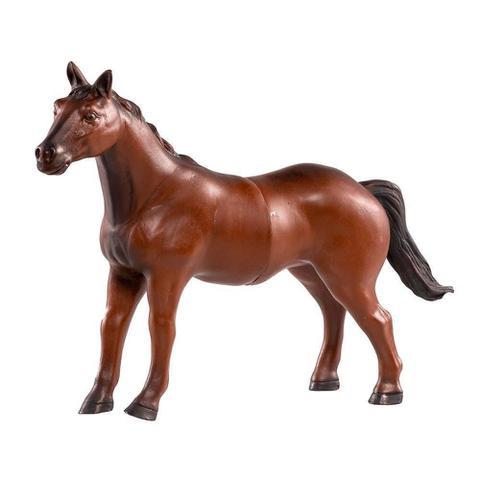Imagem de Boneco Cavalo de Vinil Marrom Animais da Fazendo Db Play