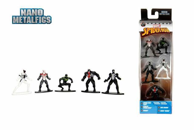 Imagem de Boneco De Metal Nano Marvel Homem Aranha Pack Com 5 Jada 99252