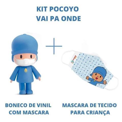 Imagem de Boneco de vinil pocoyo vai pa onde com mascara