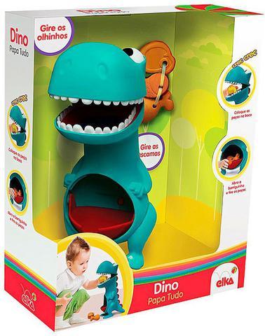 Imagem de Boneco Dino Papa Tudo Menino Infantil Gira Olhos Azul Comidinha Boca Sai Na Barriga +12 Meses Nhac Original Elka
