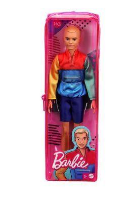 Imagem de Boneco Ken Fashionista 163 Loiro Com Roupa Colorida - Mattel