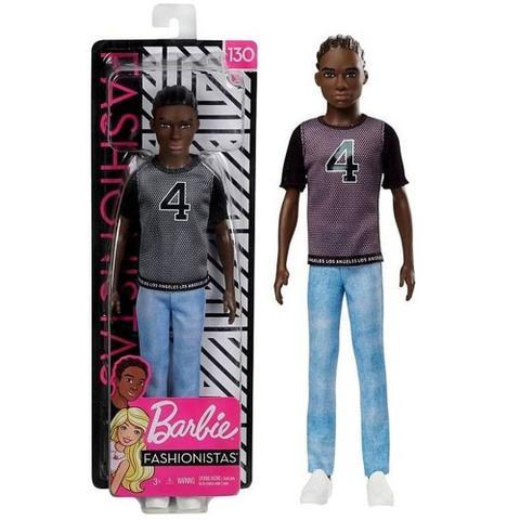 Imagem de Boneco Ken Fashionistas 130 Moreno Negro Mattel