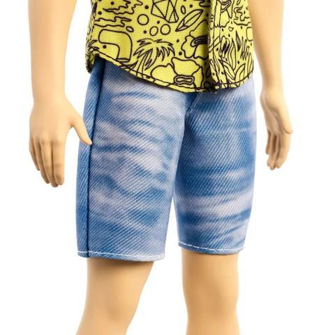 Imagem de Boneco Ken Fashionistas 139 Ruivo Camisa Estampada Mattel