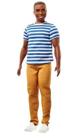 Imagem de Boneco Ken Fashionistas - 18 Camiseta Listada e Calça Caqui
