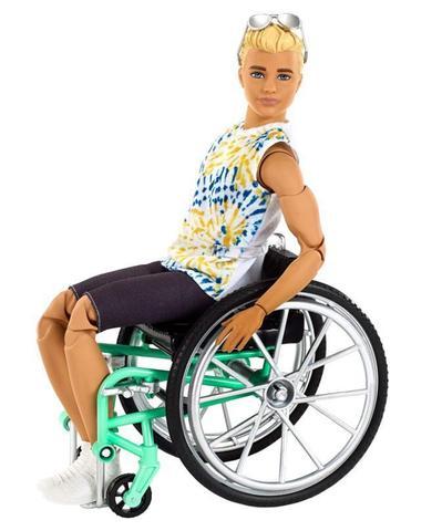 Imagem de Boneco Ken  Fashionistas   Cadeirante 167 Loiro Articulado - To Move