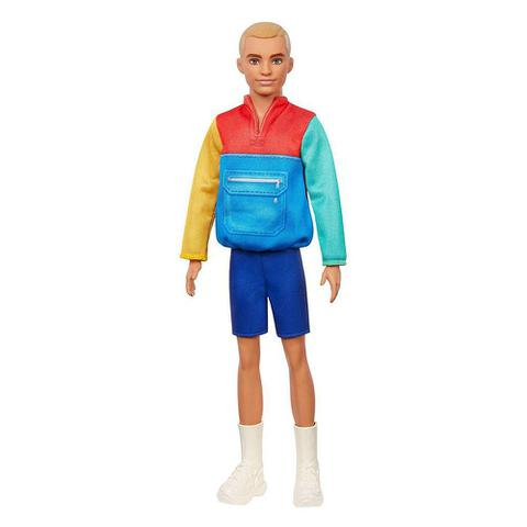 Imagem de Boneco Ken Fashionistas - Moletom Colorido - 163 - Barbie - Mattel