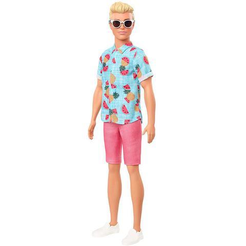 Imagem de Boneco Ken Fashionistas -Negro - Camiseta e Calça Jeans - Mattel Copy