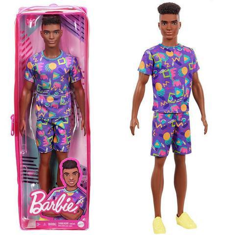 Imagem de Boneco Ken Negro 162 - Barbie Fashionistas - Nova embalagem no Estojo Plástico - Mattel
