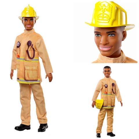 Imagem de Boneco ken profissões bombeiro fxp05