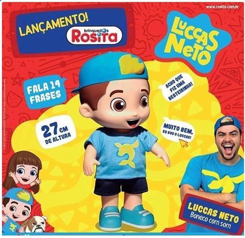 Imagem de Boneco Luccas Neto 27cm Fala 14 Frases Original Lucas Rosita