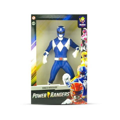Imagem de Boneco power rangers grande articulado 41cm vinil-mimo presente menino