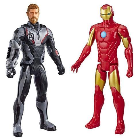 Imagem de Bonecos de Ação Homem de Ferro e Thor - Marvel Titan Hero 30cm - Hasbro