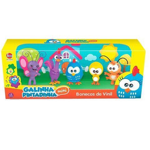 Imagem de Bonecos de Vinil Galinha Pintadinha Mini Familia Lider 2800
