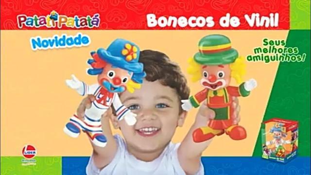 Imagem de Bonecos patati patatá articulados vinil kit lider