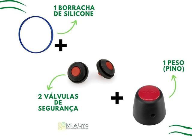 Imagem de Borracha de panela de pressão, válvula e peso 2,5L e 4,5L