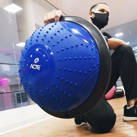 Imagem de Bosu Meia Bola Fitness Acte T282 PVC + PP Azul