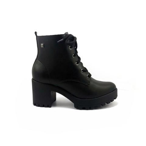 Imagem de Bota Ramarim Ankle Boot Tratorada Napa Bio Plus Preto