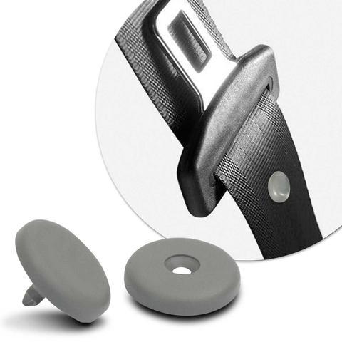 Imagem de Botão Limitador de Altura Cinto de Segurança 3 Pontos Cinza Universal