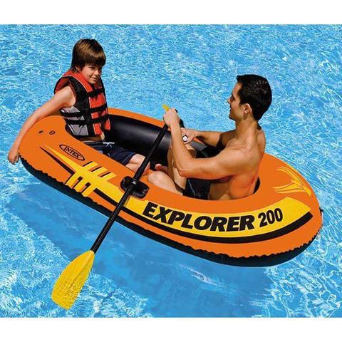Imagem de Bote Inflável Explorer 200 Intex 2 Pessoas Até 95kg + Remo + Bomba