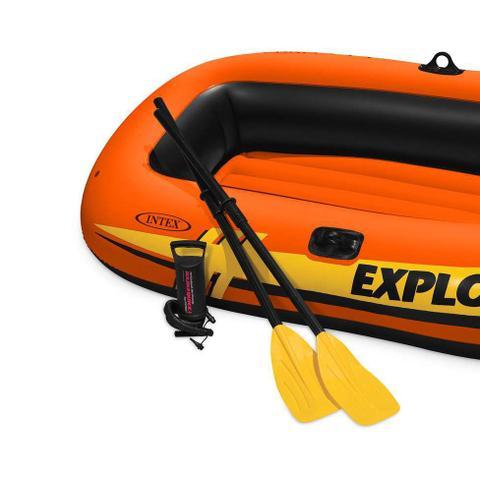 Imagem de Bote Inflável Explorer 300 (acessórios) Laranja e Preto 58332 Intex