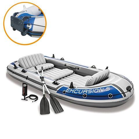 Imagem de Bote Inflável Intex Excursion 5 C/ Suporte Motor Remos Barco