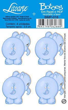 Imagem de Botões em Madeira MDF e Papel Elefante BMP-018 - Litoarte