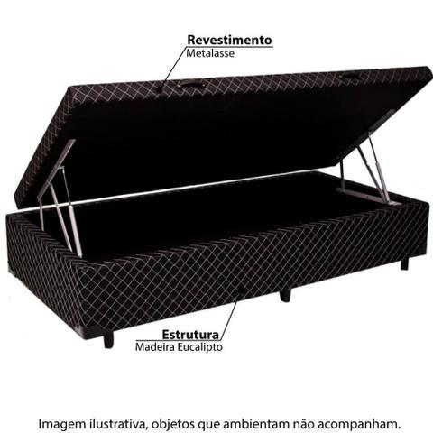 Imagem de Box Baú Solteiro 78x188x35 Metalasse - Preto