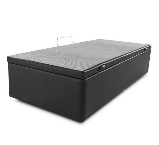 Imagem de Box Baú Solteiro 88x188cm Courvin Preto