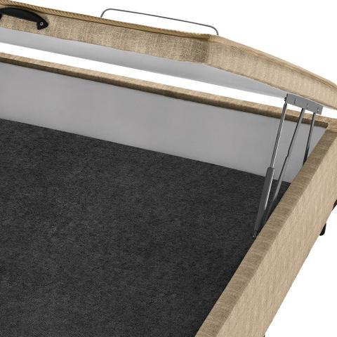 Imagem de Box c/ Baú Casal Americanflex Bege Multiflex 138x188x34 cm
