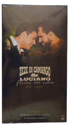 Imagem de Box Dvd+ 2 Cds Flores Em Vida Zezé Di Camargo  Luciano
