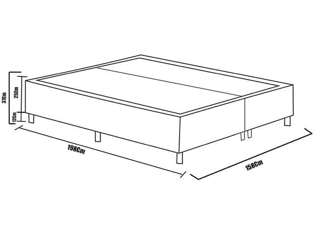 Imagem de Box para Colchão Queen Size Plumatex