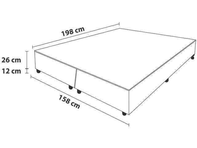 Imagem de Box para Colchão Queen Size Probel Bipartido