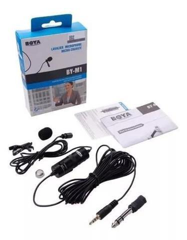 Imagem de Boya BY M1 Super Microfone de Lapela Modelo BY M1 para Câmeras diversas e Smartphones