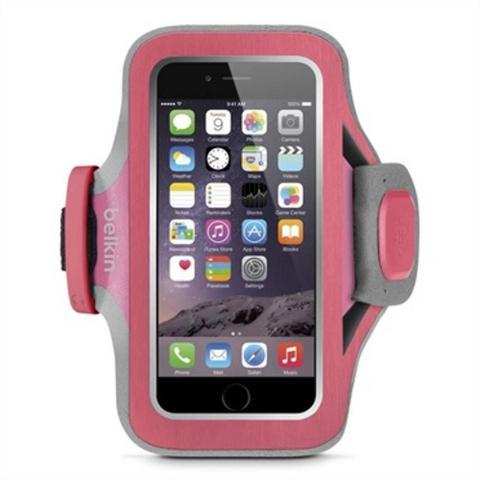 Imagem de Braçadeira Belkin Slim-fit Neoprene iPhone 6/6S Rosa e Cinza
