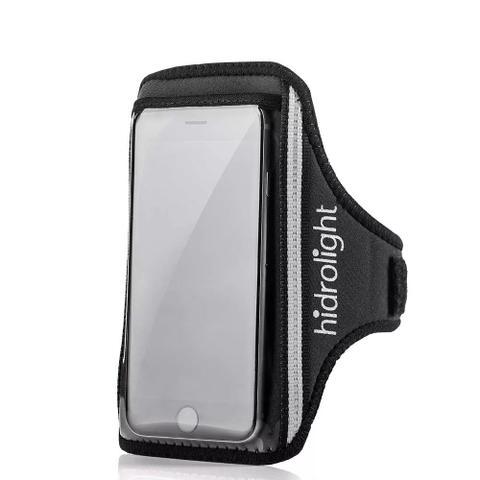 Imagem de Braçadeira Para Celular Em Neoprene Preta Plus - Hidrolight
