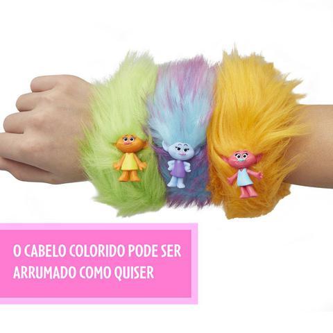 Imagem de Bracelete - Mini Figura Surpresa - Trolls - Cabeludos - Hasbro
