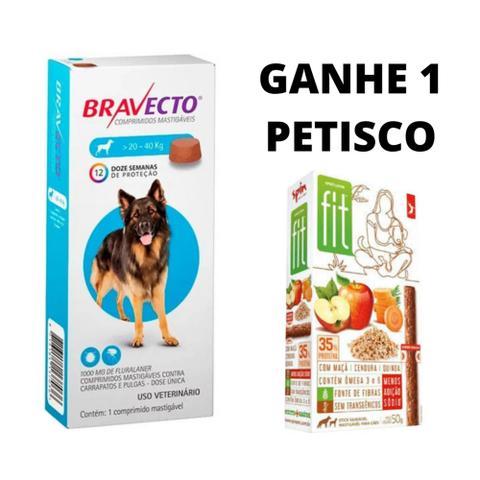 Imagem de Bravecto Antipulgas Carrapatos e Sarnas para Cães de 20 a 40kg - 1000mg - Msd