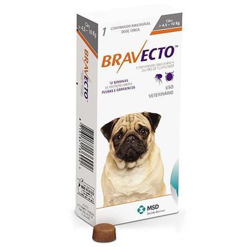 Imagem de Bravecto Antipulgas e Carrapatos para Cães de 4,5 a 10kg