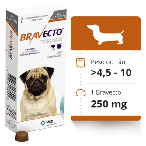 Imagem de Bravecto Comprimido Mastigável Antipulgas e Carrapatos para Cães de 4,5 a 10kg - Msd
