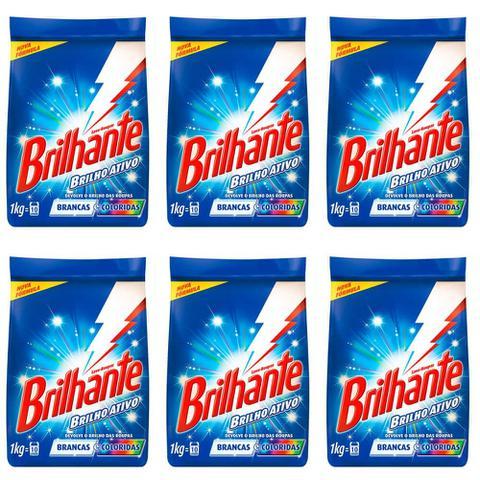 Imagem de Brilhante Multi Tecidos Detergente Em Pó 1kg (Kit C/06)