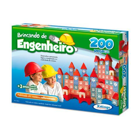 Imagem de Brincando De Engenheiro Com 200 Peças Xalingo