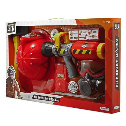 Imagem de Brincando de Ser Kit Bombeiro Com Máscara de Oxigênio Indicado para +3 Anos Vermelho Multikids - BR962