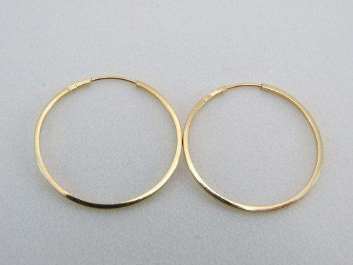 9275a1da67cc7 Brinco De Argola Quadrado 1.9cm Em Ouro 18k 750 - Dr joias - Brinco ...