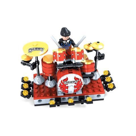 Imagem de Brinquedo Bateria para Montar com 140 Pcs