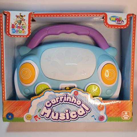 Imagem de Brinquedo Bebê Musical Carro Infantil Teclado Seguro Baby Azul