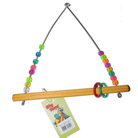 Imagem de Brinquedo Big Toy Para Pássaros Balanço Trapézio - Tamanho M