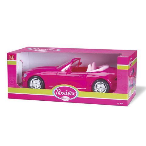 Imagem de Brinquedo Carrinho Menina Infantil Barbie Roadster Roma