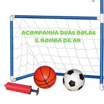 Imagem de Brinquedo chute a gol trave 2 em 1 dmt5936
