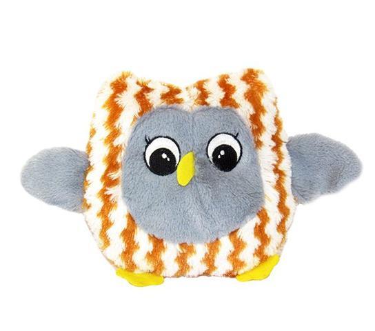 Imagem de Brinquedo coruja de pelúcia com apito  - 17,8 cm
